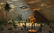 Flying Saucer Digital Art - Ancient Civilization by Mark Stevenson