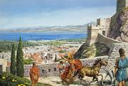 Overlooking Paintings - Ancient Corinth by Roger Payne