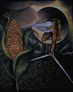 Barbara Nesin Art - Ancient Days of Corn Mother Creation Myth by Barbara Nesin