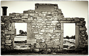 Stone House Framed Prints - Ancient Doorway Framed Print by John Rizzuto