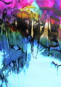 Lyrical Abstraction Posters - Ancient Echoes Poster by Mary Sullivan