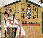 Hieroglyphic Prints - Ancient Egypt: Chess Print by Granger