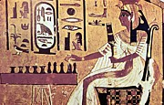 Board Game Photos - Ancient Egyptian Queen Nefetari Playing Senat by Photos.com