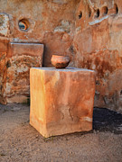 Mission San Javier Del Bac - Ancient Granary Pot by Donna Van Vlack