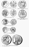 Dionysus Photos - Ancient Greek Coins by Granger