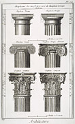 Corinthian Posters - Ancient Greek Columns Poster by Granger