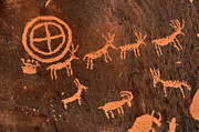 Bighorn Photos - Ancient Indian Petroglyphs by Gary Whitton