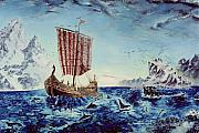 Vikings Painting Posters - Ancient Mariner Poster by Richard Barham