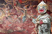 Antique Digital Art Originals - Ancient Ramayana picture on the wall in Thai temple by Anek Suwannaphoom