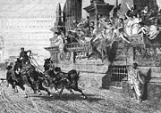 Horserace Prints - Ancient Rome: Chariot Race Print by Granger