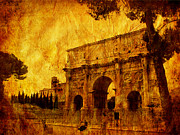 Column Mixed Media Posters - Ancient Rome Poster by Stefano Senise