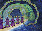 Mysteries Painting Posters - Ancient Serpent Poster by Shoshanah Dubiner