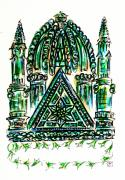 Prayer Drawings - Ancient Shul by Judith Herbert