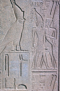 Hieroglyphic Prints - Ancient Stone Carvings Print by Photo Researchers, Inc.