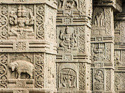 Story Prints - Ancient Temple Carvings Print by Nila Newsom