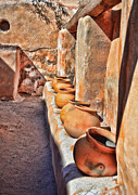 Mission San Javier Del Bac - Ancient Wall of Pots by Donna Van Vlack