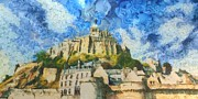 Michel Framed Prints - Ancora Mont St. Michel Framed Print by Aaron Stokes