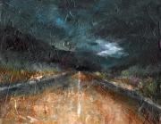 Roads Paintings - And LIfe Goes On by Frances Marino