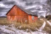Farm Scene Photos - ..And morning brings another empty day  by Russell Styles