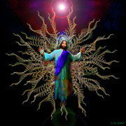 Christ Digital Art Originals - And On The Third Day... by Michael Durst