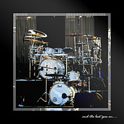 Musical Digital Art Metal Prints - And The Beat Goes On.... Metal Print by Holly Kempe