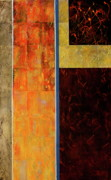 Orange Mixed Media Originals - And the Sun Came Out by Betty OHare
