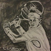 Wimbledon Paintings - And the Winner Is... by Cindy Williams