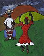 Black Art Paintings - and Then She began to Dance by Wayne Potrafka