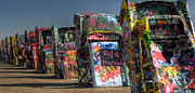 Cadillac Ranch Photos - And Then There Were 10 by Fred Lassmann