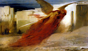Angel Print Prints - And There Was A Great Cry In Egypt Print by Arthur Hacker