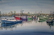 Boats In Water Paintings - AND They Are Off by NHowell