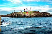 Nubble Lighthouse Posters - And Yet Another Poster by Greg Fortier