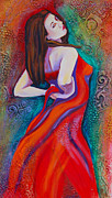 Dancer Mixed Media Prints - Andalucia 2 Print by Claudia Fuenzalida Johns