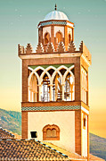 Moroccan Photos - Andalucian minaret by Tom Gowanlock
