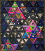 Stars Tapestries - Textiles Prints - Andalusian Odyssey Print by Marilyn Henrion