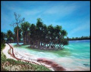 Usha Rai Art - Andaman sea shore by Usha Rai