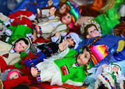 Poncho Photos - Andean Baby Jesus Figures by James Brunker