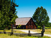 Bill Gallagher Photography Prints - Anderson Valley Barn Print by Bill Gallagher