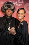 Andre Photos - Andre Leon Talley, Tyra Banks by Everett