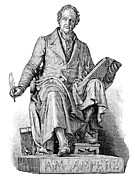 Statue Portrait Prints - Andre-marie Ampere, French Physicist Print by