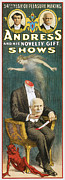 Magicians Paintings - Andress and His Novelty Gift Shows by Unknown