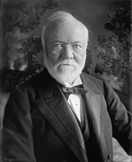 U.s. Steel Framed Prints - Andrew Carnegie 1835-1919 Framed Print by Everett