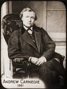 Andrew Carnegie 1835-1919 In 1861, When Print by Everett