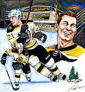 Nhl Hockey Drawings Prints - Andrew Ference Print by Dave Olsen