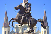 French Quarter Metal Prints - Andrew Jackson Statue Metal Print by Mike McGlothlen