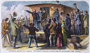 Caboose Prints - Andrew Johnson (1866): Print by Granger
