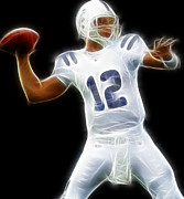 Nfl Prints - Andrew Luck - Indianapolis Colts Quarterback Print by Paul Ward