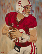 Heisman Art - Andrew Luck by Steven Dopka