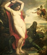 Nudes Paintings - Andromeda and Perseus by William Etty