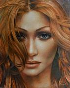 Portrait Artwork Framed Prints - Andromeda Framed Print by Arthur Braginsky
